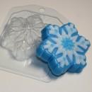 Снежинка 3, форма для мыла пластиковая