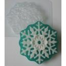 Снежинка, форма для мыла пластиковая